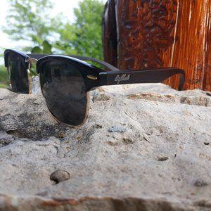 Midnight Black Bamboo Club Sunglasses, Polarized,